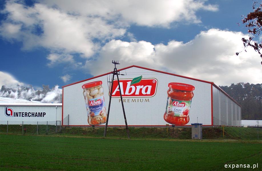 reklama wielkoformatowa pieczarek abra