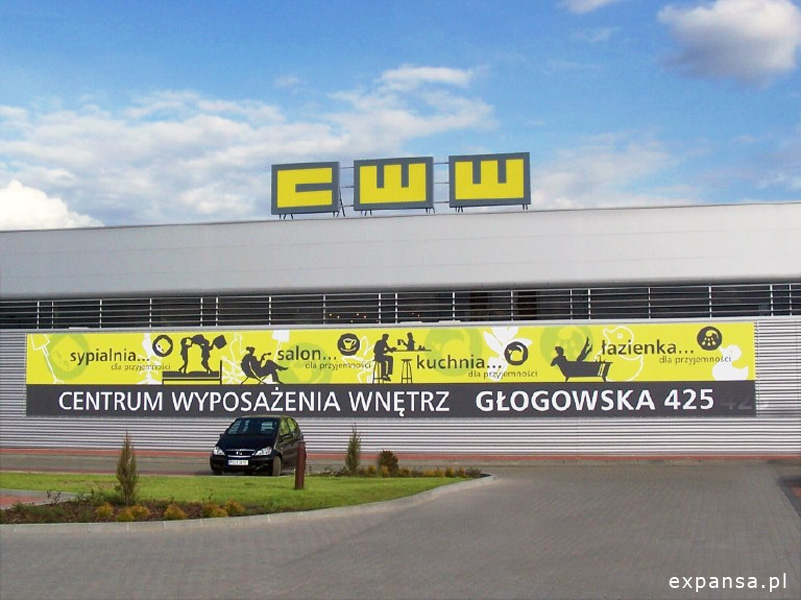 reklama wizerunkowo-informacyjna na budynku cww